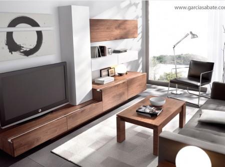 Propuesta decorativa y de almacenaje que juega con las formas y la combinación de tonos neutros y naturales.