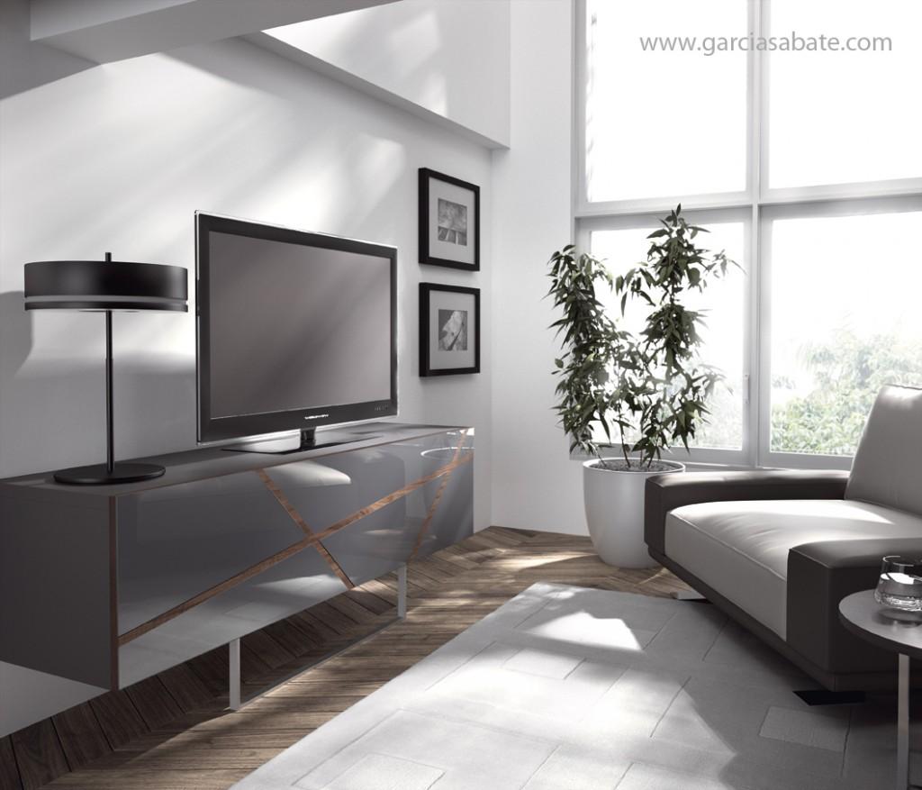 mueble de televisión moderno de la empresa garcia sabate
