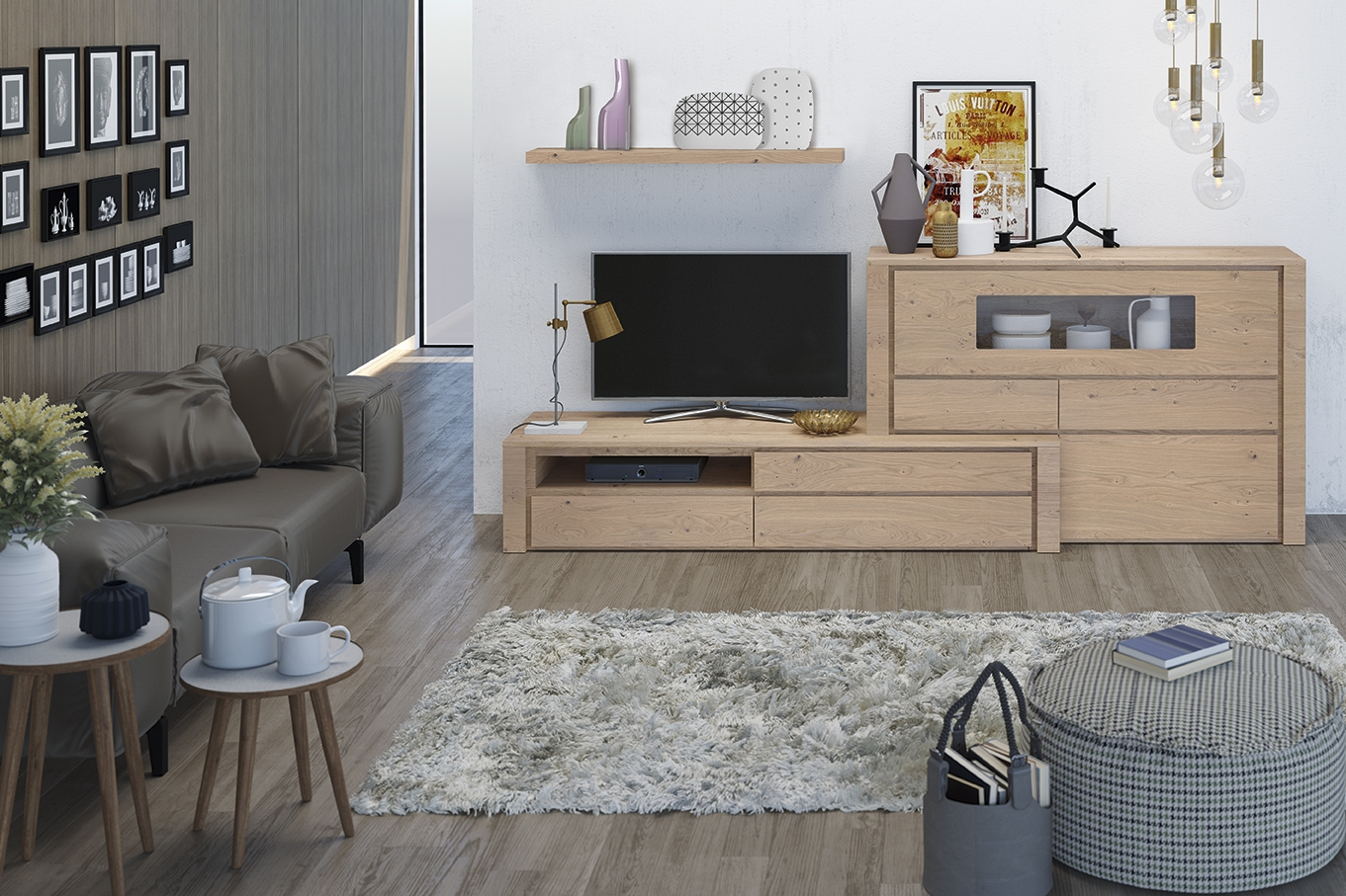 Dise o y artesan a en los muebles de tv garc a sabat - Diseno de salones modernos ...