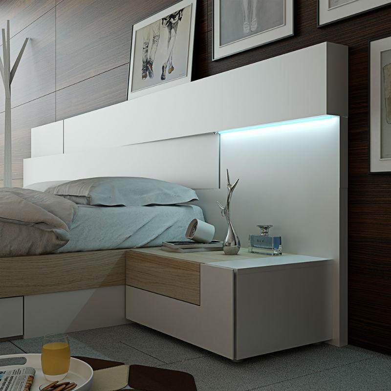 Dormitorio life garc a sabat mueble moderno - Dormitorios sin cabecero ...