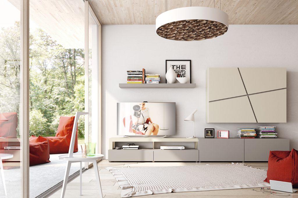 Colecci n natural garc a sabat mueble moderno - Pintar salon color arena ...