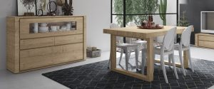 Mesa de comedor en madera de roble
