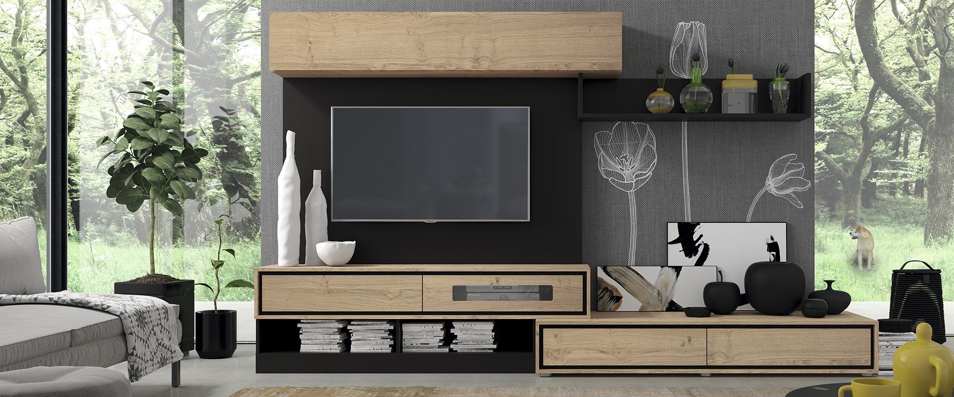 Dise o y artesan a en los muebles de tv garc a sabat for Casa garcia muebles