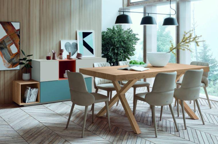 Modelo CKRON X, mesa para comedor
